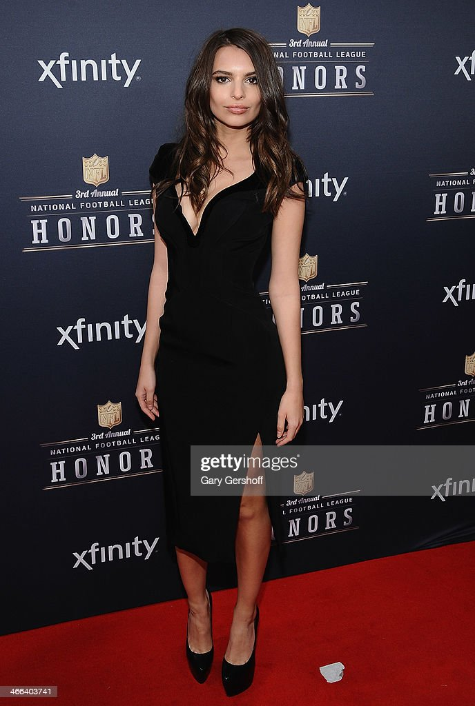 Emily Ratajkowski attends the 3rd Annual NFL Honors at Radio City Music Hall on February 1, 2014 in New York City.