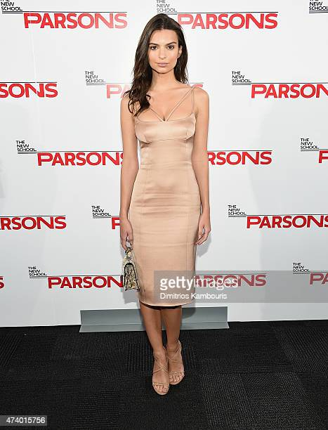 Emily Ratajkowski attends the 67th Annual Parsons Fashion Benefit at River Pavillion at the Jacob Javitz Center on May 19 2015 in New York City