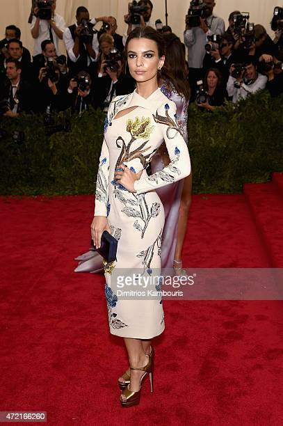 Emily Ratajkowski attends the 'China Through The Looking Glass' Costume Institute Benefit Gala at the Metropolitan Museum of Art on May 4 2015 in New...