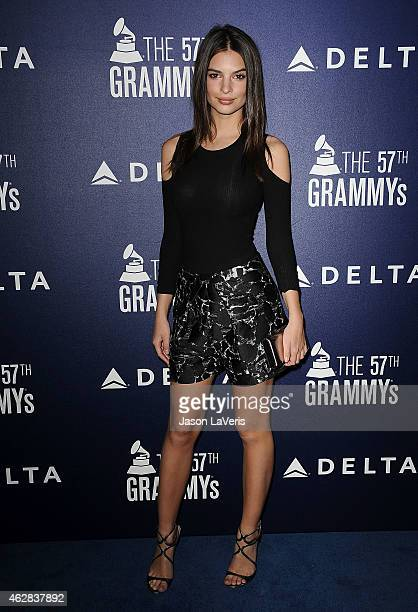 Emily Ratajkowski attends the Delta Air Lines toast to the 2015 GRAMMY weekend at Soho House on February 5 2015 in West Hollywood California
