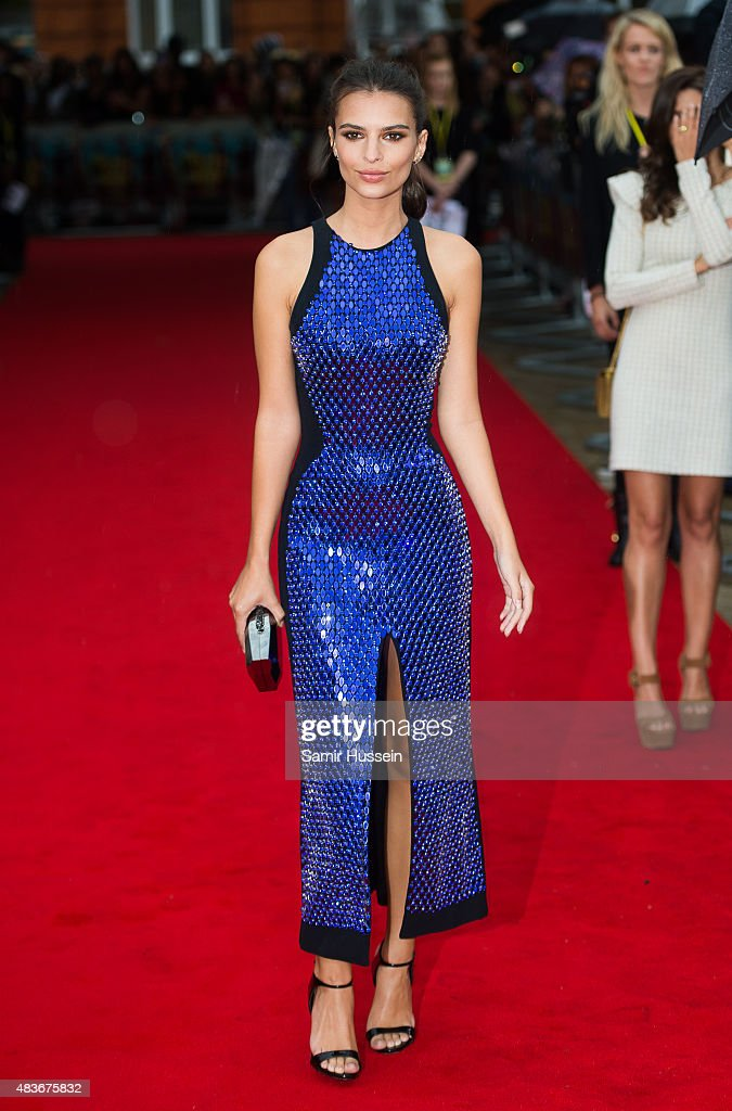 Emily Ratajkowski attends the European Premiere of 'We Are Your Friends' at Ritzy Brixton on August 11, 2015 in London, England.