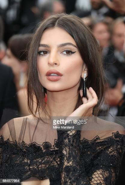 Emily Ratajkowski attends the 'Loveless ' screening during the 70th annual Cannes Film Festival at Palais des Festivals on May 18 2017 in Cannes...