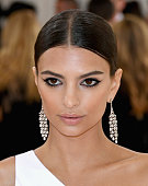Emily Ratajkowski attends the 'Manus x Machina Fashion In An Age Of Technology' Costume Institute Gala at Metropolitan Museum of Art on May 2 2016 in...