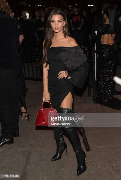 Emily Ratajkowski attends the Marc Jacobs afterparty of the Rei Kawakubo/Comme des Garcons Art Of The InBetween Costume Institute Gala at the Boom...