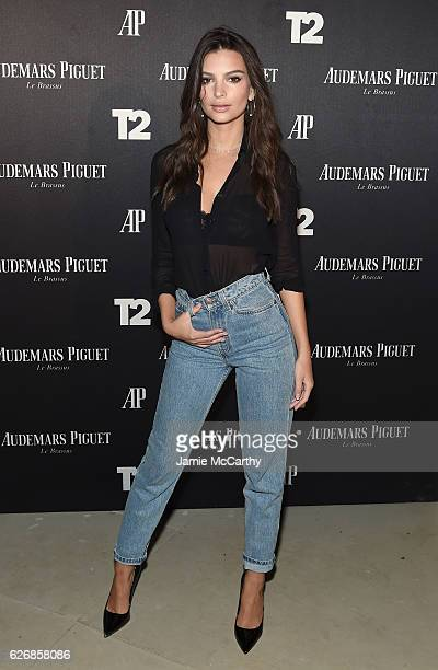 Emily Ratajkowski attends the Miami Beach Kickoff Party at Audemars Piguet Art Commission 'Reconstruction Of The Universe' by Sun Xun hosted by...