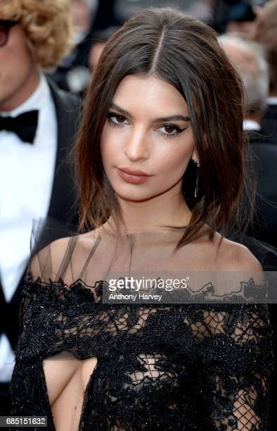 Emily Ratajkowski attends the 'Nelyobov ' screening during the 70th annual Cannes Film Festival at Palais des Festivals on May 18 2017 in Cannes...