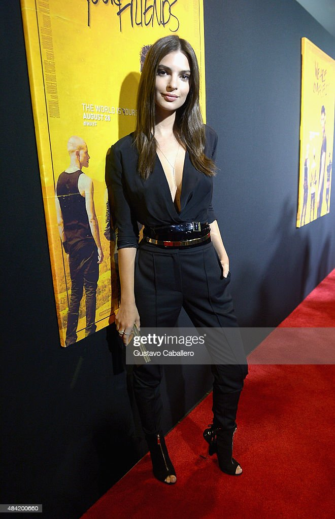 Emily Ratajkowski attends 'We Are Your Friends' screening at Regal Cinemas South Beach Stadium 18 on August 15, 2015 in Miami, Florida.