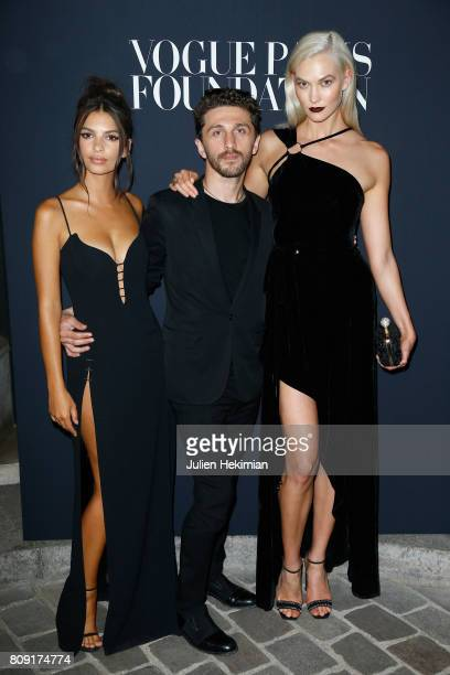 Emily Ratajkowski David Koma and Karlie Kloss attend the Vogue Foundation Dinner during Paris Fashion Week as part of Haute Couture Fall/Winter...