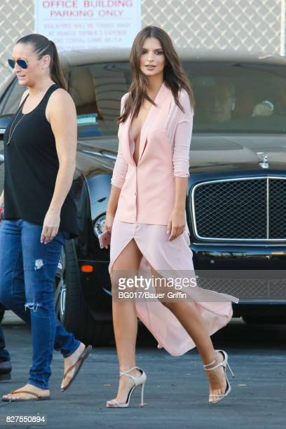 Emily Ratajkowski is seen at 'Jimmy Kimmel Live' on August 07 2017 in Los Angeles California