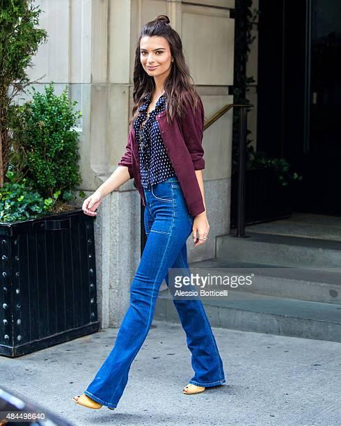 Emily Ratajkowski is seen in Midtown on August 19 2015 in New York City