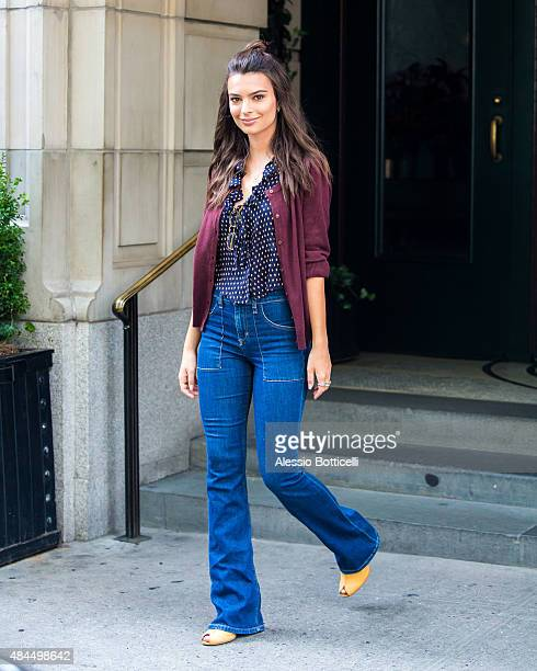 Emily Ratajkowski is seen in Midtown on August 19 2015 in New York City