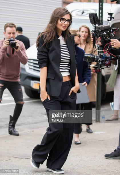 Emily Ratajkowski is seen in Soho on April 24 2017 in New York City