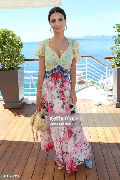 Emily Ratajkowski is spotted during the 70th annual Cannes Film Festival at Hotel du CapEdenRoc on May 17 2017 in Cannes France