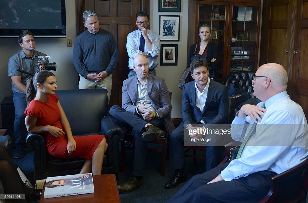 <a gi-track='captionPersonalityLinkClicked' href=/galleries/search?phrase=Emily+Ratajkowski&family=editorial&specificpeople=9198518 ng-click='$event.stopPropagation()'>Emily Ratajkowski</a> speaks with Representative Joseph Crowley as she participates in The Creative Coalition��s Arts Team to focus national leaders on the efficacy of the arts on Capitol Hill on April 29, 2016 in Washington, DC.