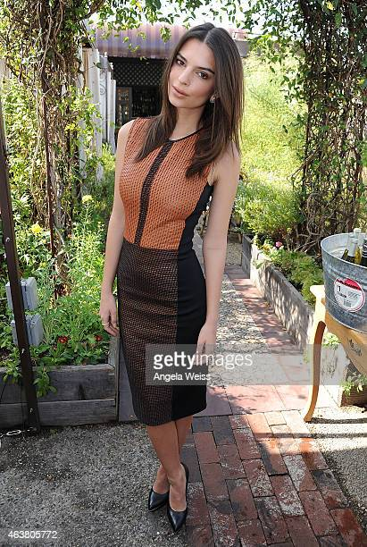 Emily Ratajowski attends the Maison De Mode Oscar week lunch hosted by Rosario Dawson Amanda Hearst Hassan Pierre Spotify at Petit Ermitage on...