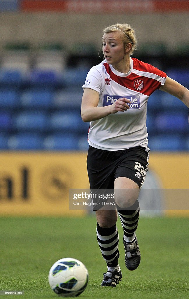 Emily Roberts of Lincoln Ladies during the FA WSL match between Lincoln Ladies FC and Arsenal Ladies FC at the Sincil Bank Stadium on May 15, 2013 in Lincoln, England