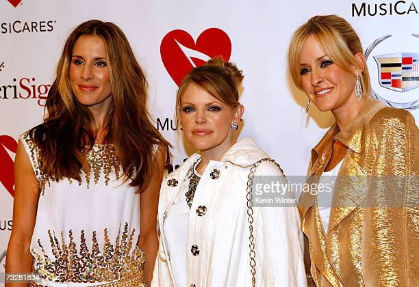 Emily Robinson Natalie Maines and Martie Maguire of the group The Dixie Chicks arrive at the 2007 MusiCares Person of the Year honoring Don Henley at...