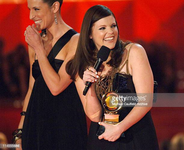 Emily Robison and Natalie Maines of the Dixie Chicks accept Song of the Year award for 'Not Ready to Make Nice'