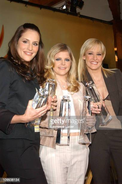 Emily Robison Natalie Maines and Martie Maguire of the Dixie Chicks with their Diamond Awards from Sony Records