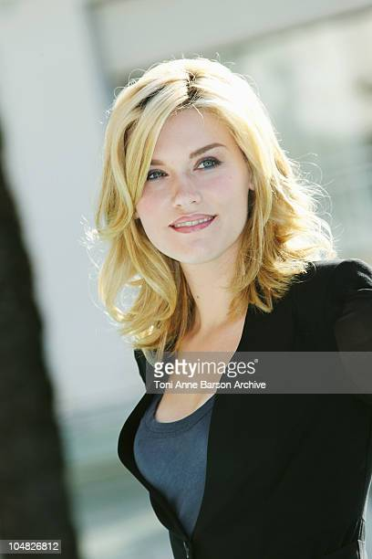 Emily Rose attends photocall for 'Haven'during Mipcom at the Martinez Hotel on October 5 2010 in Cannes France