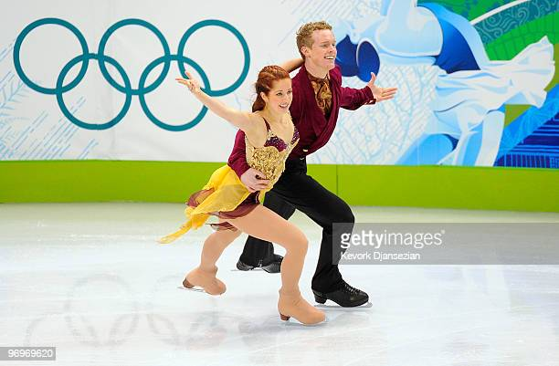Emily Samuelson and Evan Bates of USA compete in the free dance portion of the Ice Dance competition on day 11 of the 2010 Vancouver Winter Olympics...
