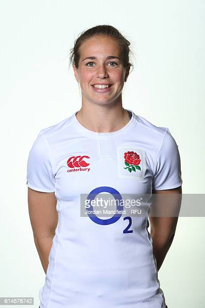 Emily Scarratt of England poses for a portrait at Bisham Abbey on October 11 2016 in Marlow England