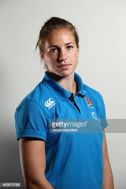 Emily Scarratt poses for a portrait during the IRB Women's Rugby World Cup 2014 on August 11 2014 in Paris France