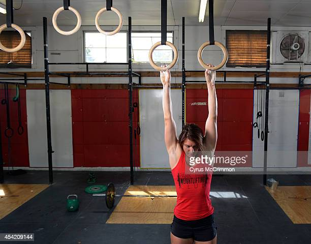 Emily Schromm 2014 Next Fitness Star and a CrossFit competitor at her Park Hill CrossFit studio 2857 Fairfax Street in Denver on Monday August 18...
