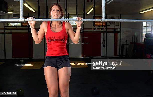 Emily Schromm 2014 Next Fitness Star for Women's Health and a CrossFit competitor at her Park Hill CrossFit studio 2857 Fairfax Street in Denver on...
