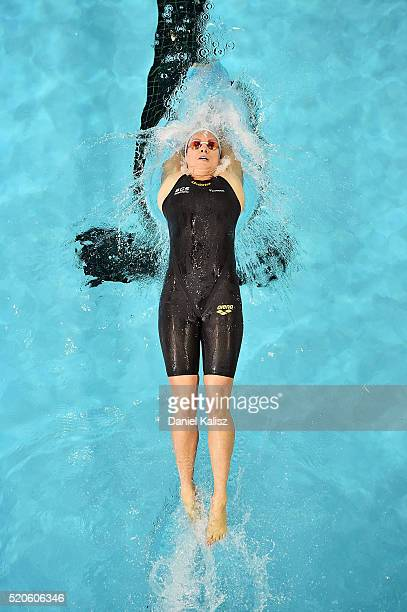 Emily Seebohm of Australia competes in the Women's 200 metre Backstroke during day six of the 2016 Australian Swimming Championships at the South...