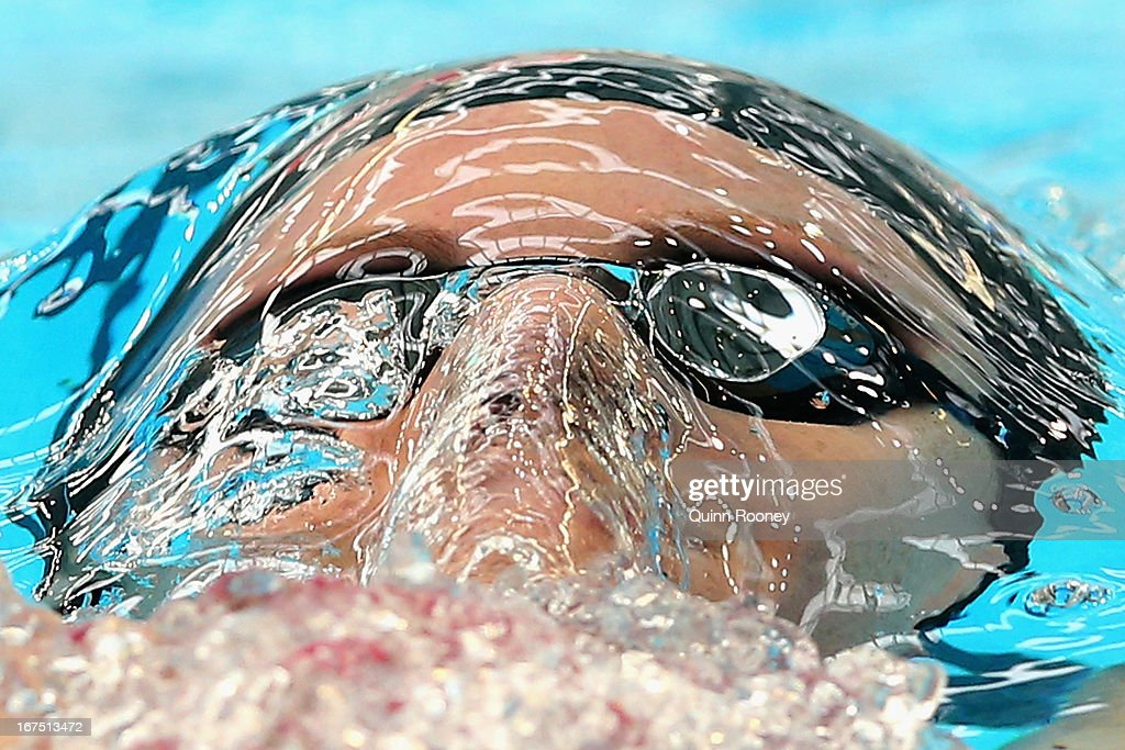 Emily Seebohm of Australia competes in the Women's 200 Metre Individual Medley Heats during day one of the Australian Swimming Championships at the SA Aquatic and Leisure Centre on April 26, 2013 in Adelaide, Australia.