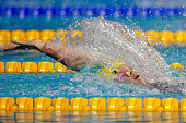 Emily Seebohm of Australia competes in the Women's 200m Backstroke Final on day fifteen of the 16th FINA World Championships at the Kazan Arena on...