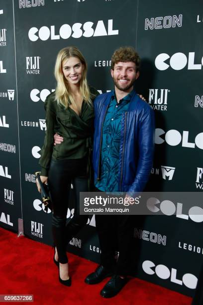 Emily Senko and Timo Weiland attended the 'Colossal' New York Premiere at AMC Lincoln Square Theater on March 28 2017 in New York City