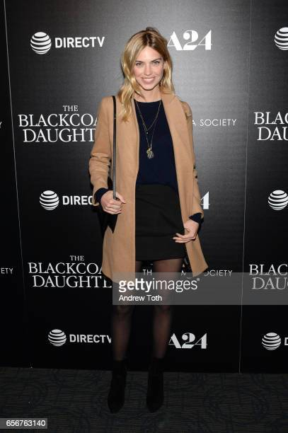 Emily Senko attends a screening of 'The Blackcoat's Daughter' hosted by A24 and DirecTV with The Cinema Society at Landmark Sunshine Cinema on March...