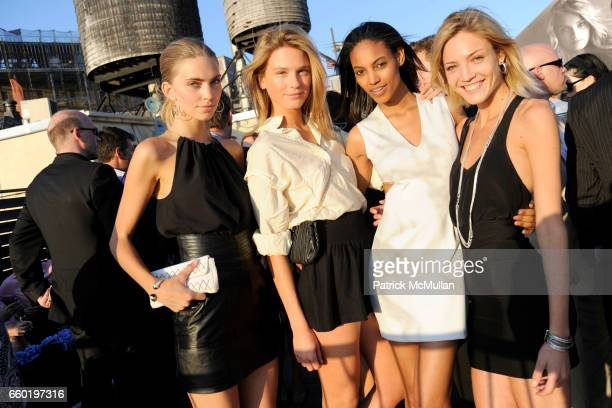 Emily Senko Sophia Lie Ariel Meredith and Barbara Berger attend DAVID YURMAN Annual Summer Rooftop Party at David Yurman on July 14 2009 in New York...