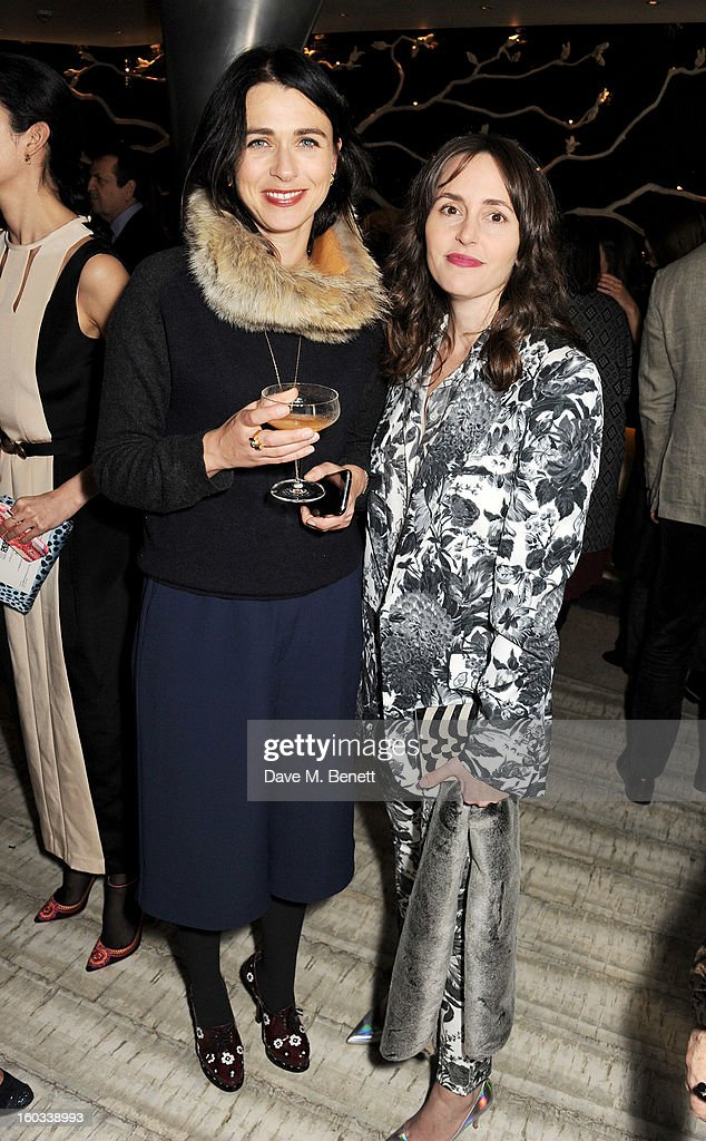 Emily Sheffield (L) and Tania Fares attend the BFC/Vogue Designer Fashion Fund winners announcement at Nobu Berkeley on January 29, 2013 in London, England.