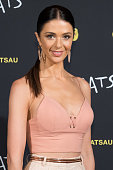 Emily Simms from 'The Bachelor 2015' arrives ahead of CATS Opening Night at Regent Theatre on December 20 2015 in Melbourne Australia