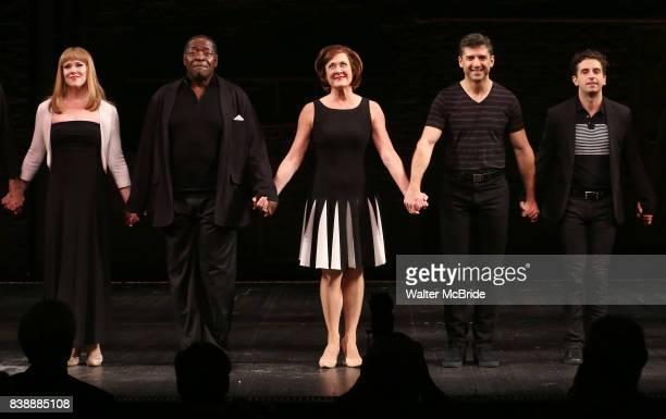 Emily Skinner Chuck Cooper Karen Ziemba Tony Yazbeck Brandon Uranowitz during the Broadway Opening Night performance Curtain Call for 'Prince of...