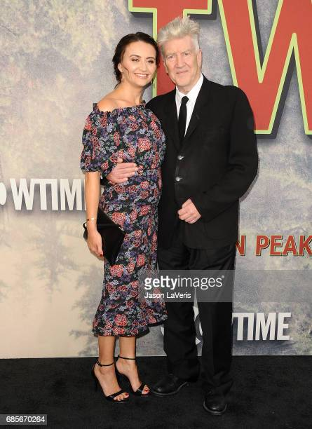 Emily Stofle and David Lynch attend the premiere of 'Twin Peaks' at Ace Hotel on May 19 2017 in Los Angeles California