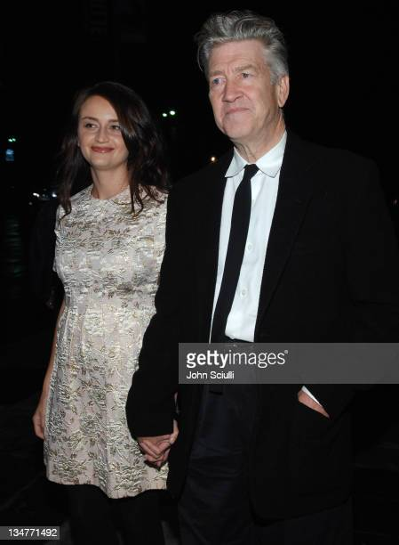 Emily Stofle and David Lynch director during 'Inland Empire' Los Angeles Premiere Red Carpet and QA at Bing Theater at LACMA Museum in Los Angeles...