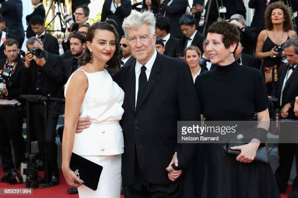 Emily Stofle and director David Lynch attend the Closing Ceremony during the 70th annual Cannes Film Festival at Palais des Festivals on May 28 2017...