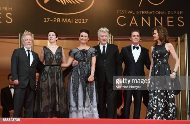 Emily Stofle David Lynch Kyle MacLachlan and Desiree Gruber attend the 'Twin Peaks' screening during the 70th annual Cannes Film Festival at Palais...