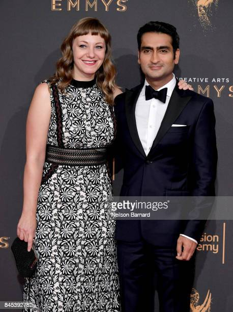 Emily V Gordon and Kumail Nanjiani attend day 2 of the 2017 Creative Arts Emmy Awards on September 10 2017 in Los Angeles California