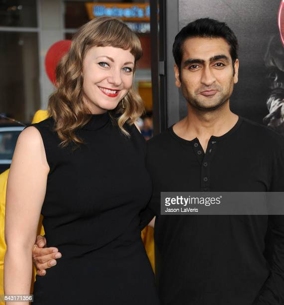 Emily V Gordon and Kumail Nanjiani attend the premiere of 'It' at TCL Chinese Theatre on September 5 2017 in Hollywood California
