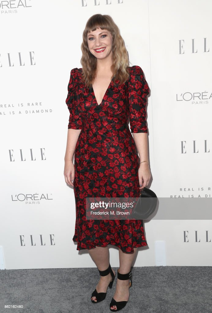 Emily V. Gordon attends ELLE's 24th Annual Women in Hollywood Celebration at Four Seasons Hotel Los Angeles at Beverly Hills on October 16, 2017 in Los Angeles, California.
