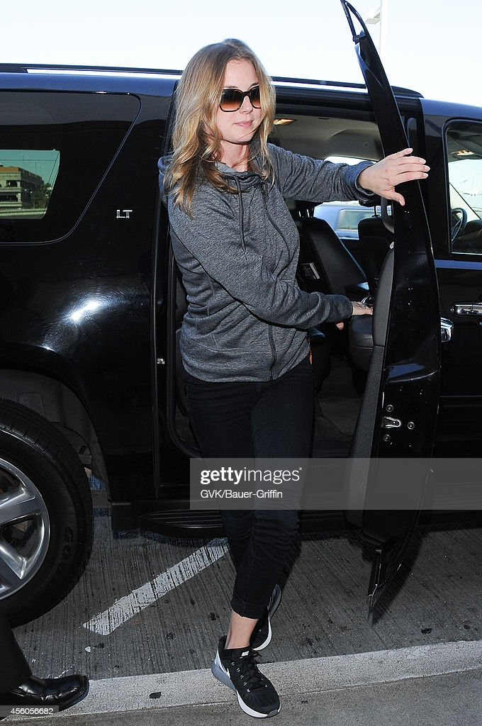Emily Van Camp seen at LAX on September 24 2014 in Los Angeles California