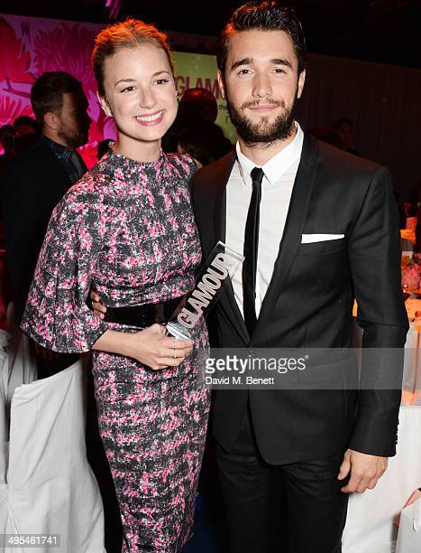 Emily VanCamp and Joshua Bowman attend the Glamour Women of the Year Awards after party in Berkeley Square Gardens on June 3 2014 in London England