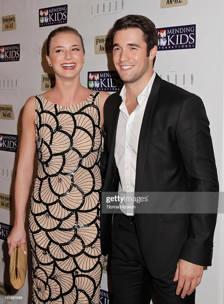 Emily VanCamp and Joshua Bowman attend the Mending Kids International celebrity poker tournament at The London Hotel on December 1, 2012 in West Hollywood, California.