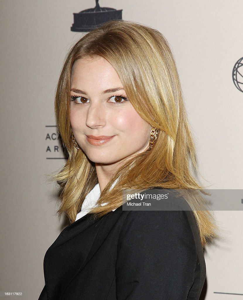 Emily VanCamp arrives at The Academy of Television Arts & Sciences presents an evening with 'Revenge' held at Leonard H. Goldenson Theatre on March 4, 2013 in North Hollywood, California.