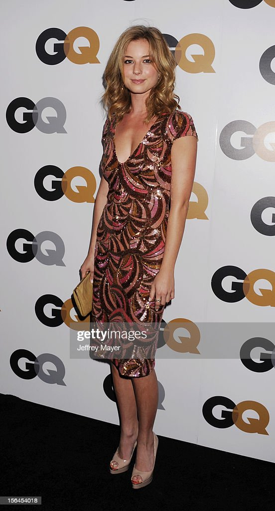 Emily VanCamp arrives at the GQ Men Of The Year Party at Chateau Marmont Hotel on November 13, 2012 in Los Angeles, California.